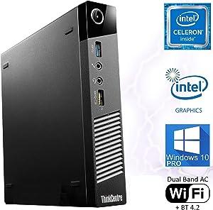 Lenovo ThinkCentre M73P Tiny Desktop, Intel Dual-Core 2.6GHz, 4GB RAM, 120GB HDD, 4K 2-Monitor Support, DisplayPort, HDMI, VGA, AC Wi-Fi, Bluetooth - Windows 10 Pro (RENEWED)