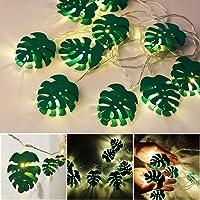Leaf lichtslingers, JUSTDOLIFE Leaf LED String Lights 6.56ft 10-LED Hangende Light StringLamp Light met Groene Monstera…