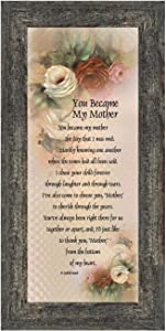 Crossroads Home Décor Mother in Law Gifts from Daughter in Law, Mother of The Groom Gifts from Bride, Birthday Gifts for Mother in Law, Gifts for Inlaws, Future Mother-in-Law Framed Poem7754BW
