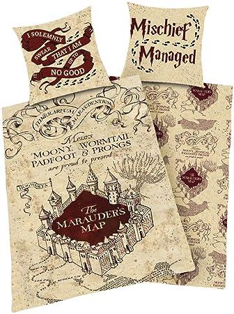 Harry Potter Marauders Map Bettwäsche Multicolour Amazonde Küche