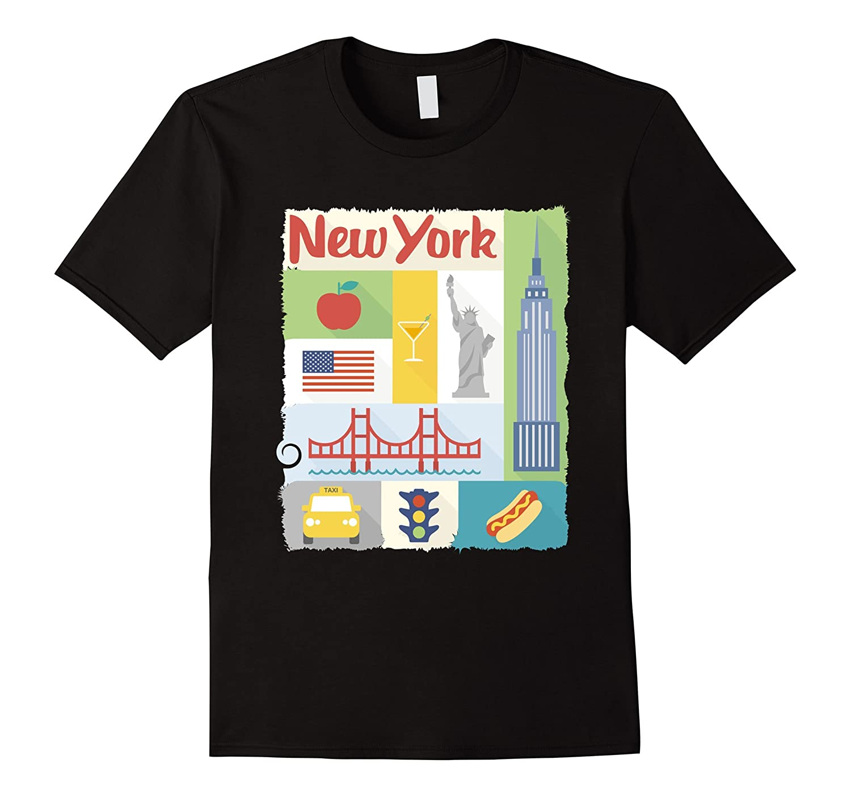 New York City Lover T Shirt Visit Symbols Travel Tour Tee Cd Canditee