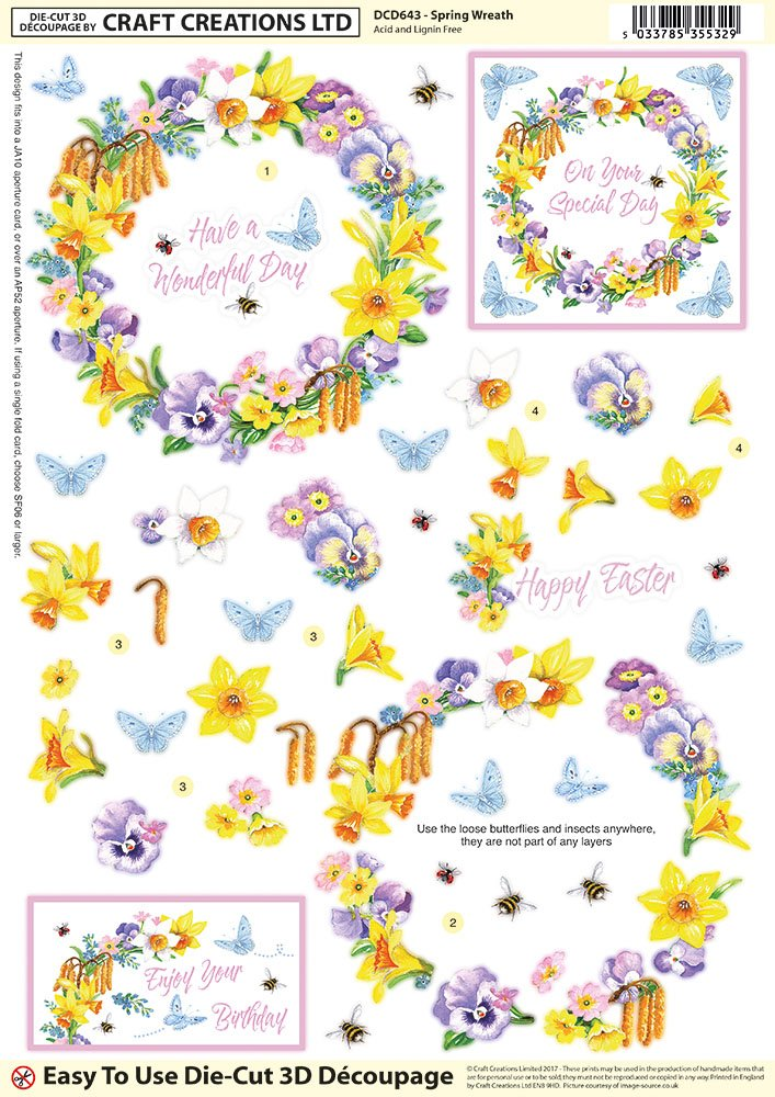 Happy Mothers Day Floral Topper by Sandra Carlse