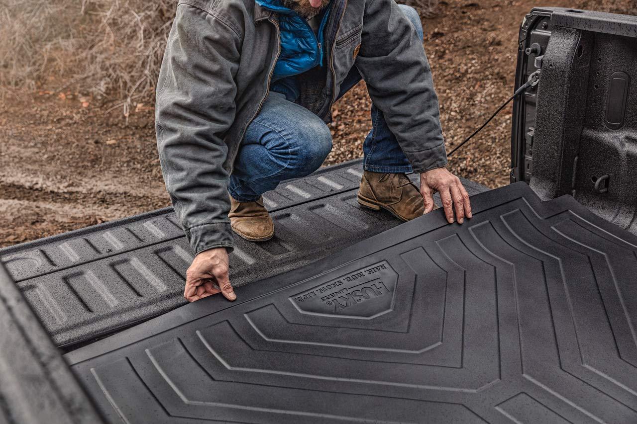 Husky Liners 16004 Black Fits 2019 Chevrolet Silverado 1500 5.8 Bed 2019 GMC Sierra 1500 5.8 Bed Heavy Duty Bed Mat