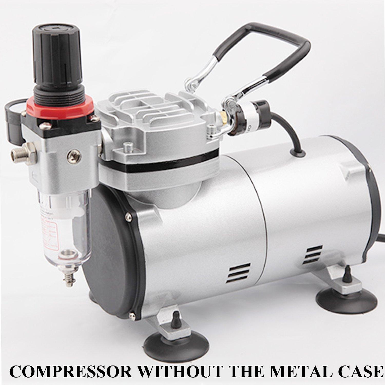 4 bar Fengda AS-18A Professional Airbrush mini Kompressor Druckminderer Kompakt mit Manometer