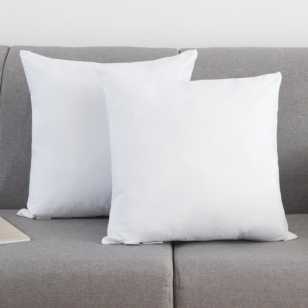 Thread Spread Set of 2, Down and Feather Throw Pillow Insert, Decorative Throw Pillows Inserts, Cotton Fabric By (20'' x 20'')