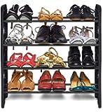 G.R.Marketing Shoe Rack- Multipurpose Shoe Racks Collapsible Shoe Stand- Shoe Organizer (4 Shelf, Without Cover)