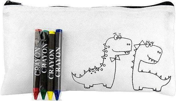 Lote de 20 Estuches para Niños Infantiles para Colorear Dinos con 4 Pinturas Ceras Incluidas: Amazon.es: Juguetes y juegos