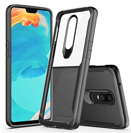 Bounceback ® (Robust Series) Oneplus 6 (2018) Cover Case Shock Proof Anti  Slip Clear Transparent Soft TPU Back Cover Case for Oneplus 6 (Charcoal