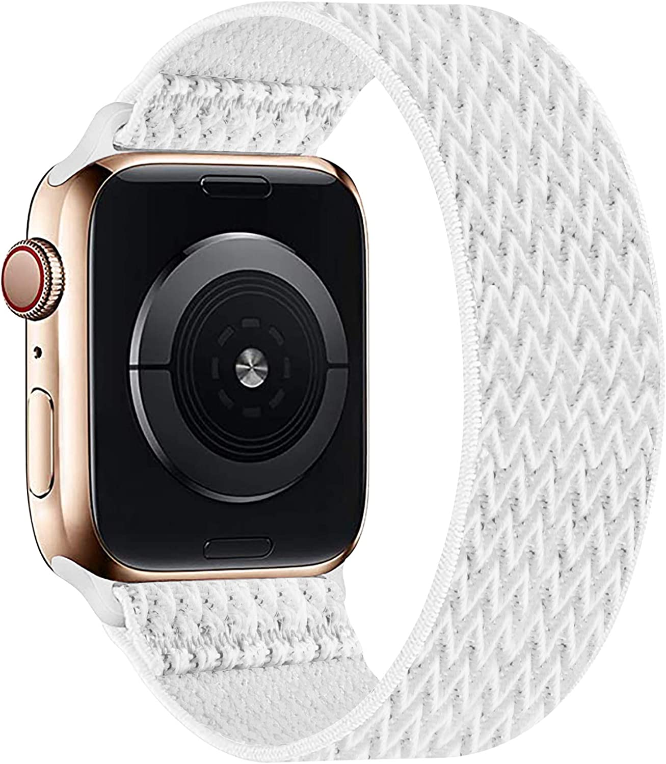 OHCBOOGIE Elastic Nylon Solo Loop Strap Compatible with Apple Watch Band 38mm 40mm 42mm 44mm,Stretchy Braided with No Clasps/Buckles Sport Women Men Wristband for iWatch Series 6/SE/5/4/3/2/1