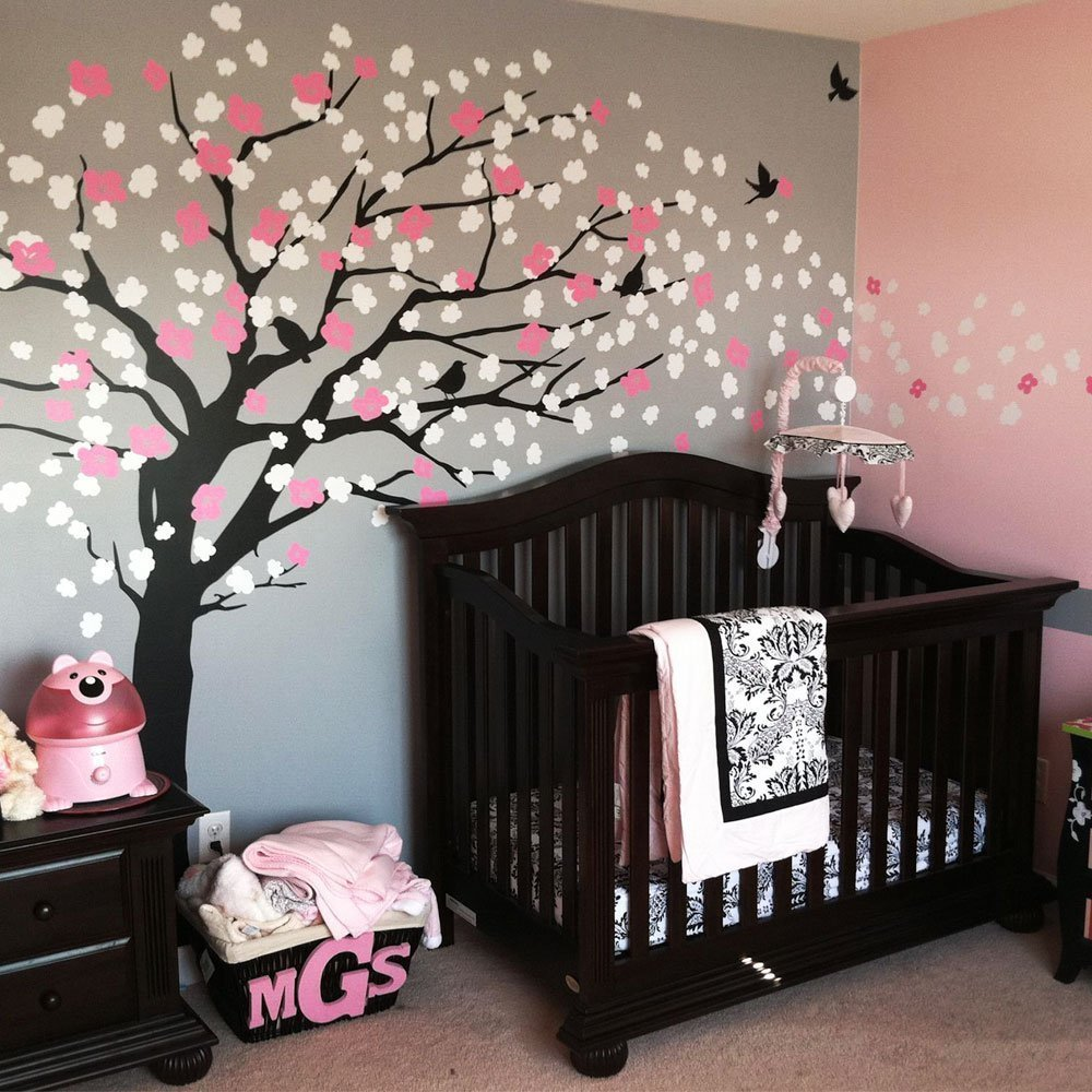 Amazon.com: Cherry Blossom Tree   Elegant Style (Color Scheme A   Black Tree):  Home U0026 Kitchen