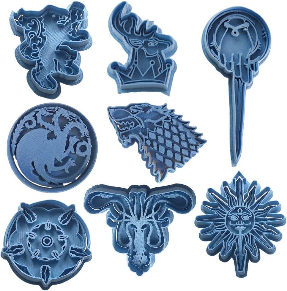 Cuticuter Juego De Tronos Completo Pack Cortador de Galletas, Azul, 16x14x1.5 cm, 8 Unidades