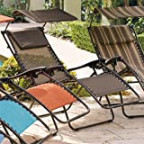 Brylanehome Zero Gravity Chair With Pillow And Canopy (Dark Bronze)