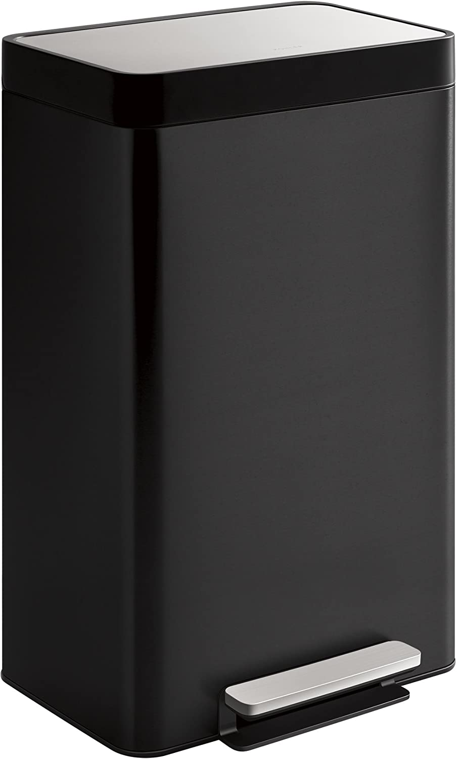 Kohler 20942-BST 8-Gallon Compact Black Stainless Step Trash Can in Black Stainless