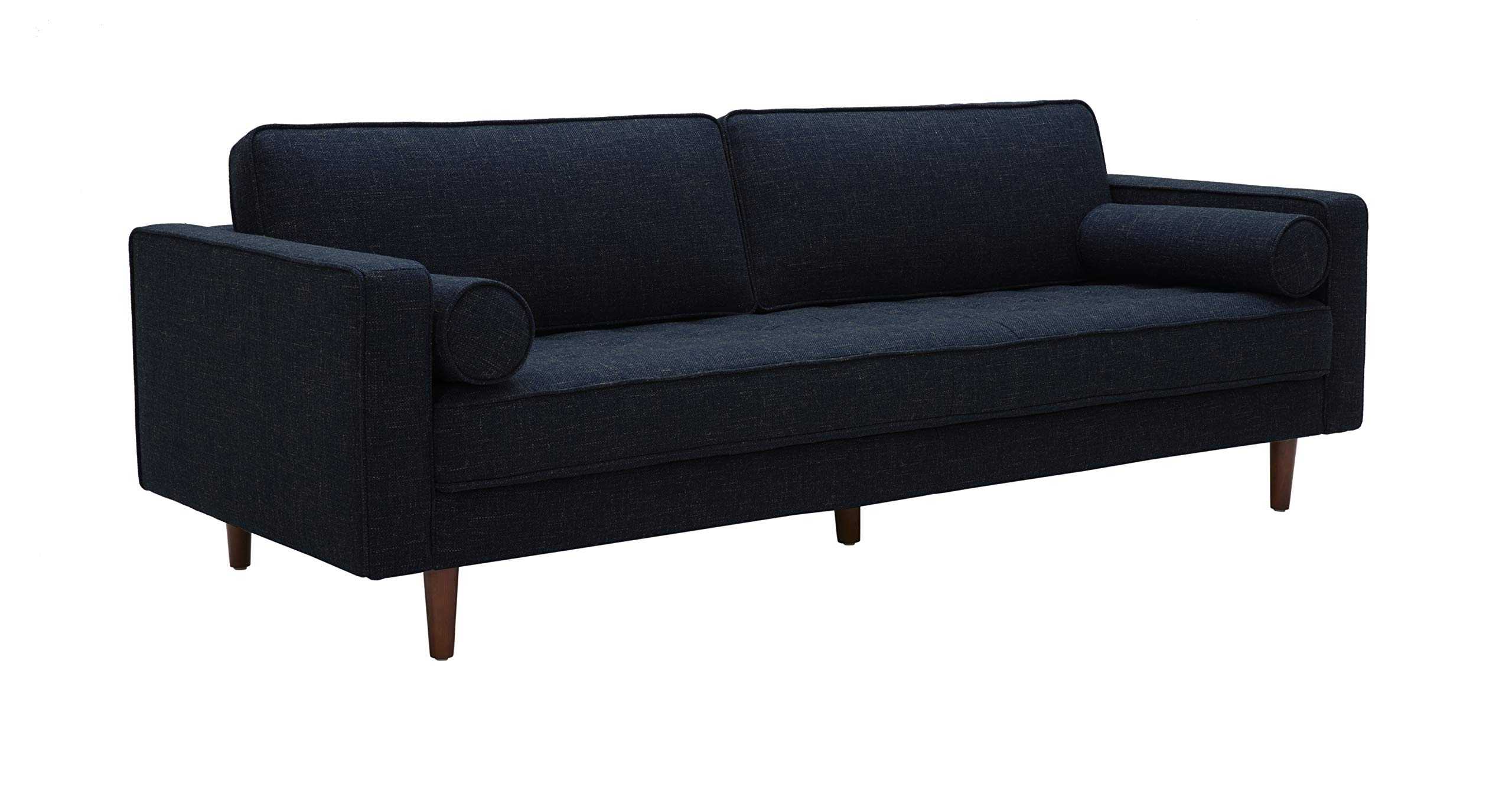 Rivet Aiden Mid-Century Sofa with Tapered Wood Legs, 87''W, Wathet Blue by Rivet