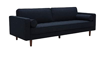 Rivet Aiden Mid-Century Sofa with Tapered Wood Legs, 87