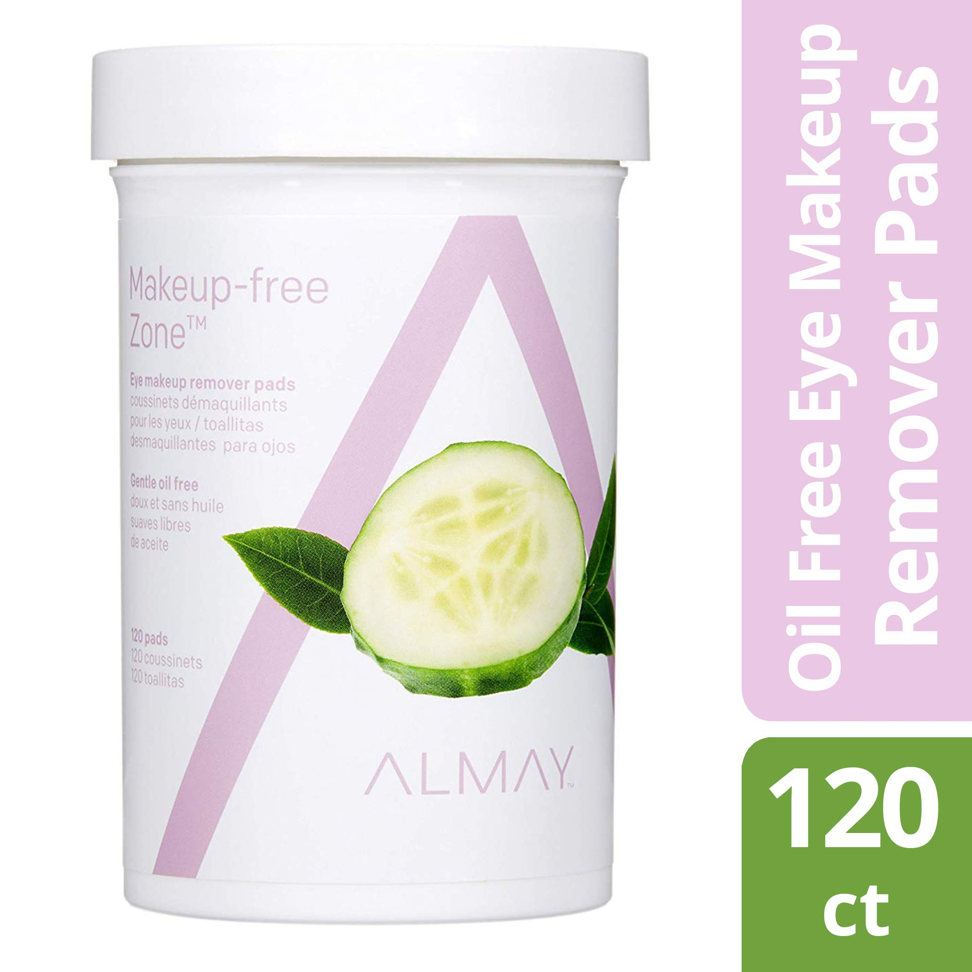 Almay Eye Makeup Remover Pads, Oil-Free 120 ea