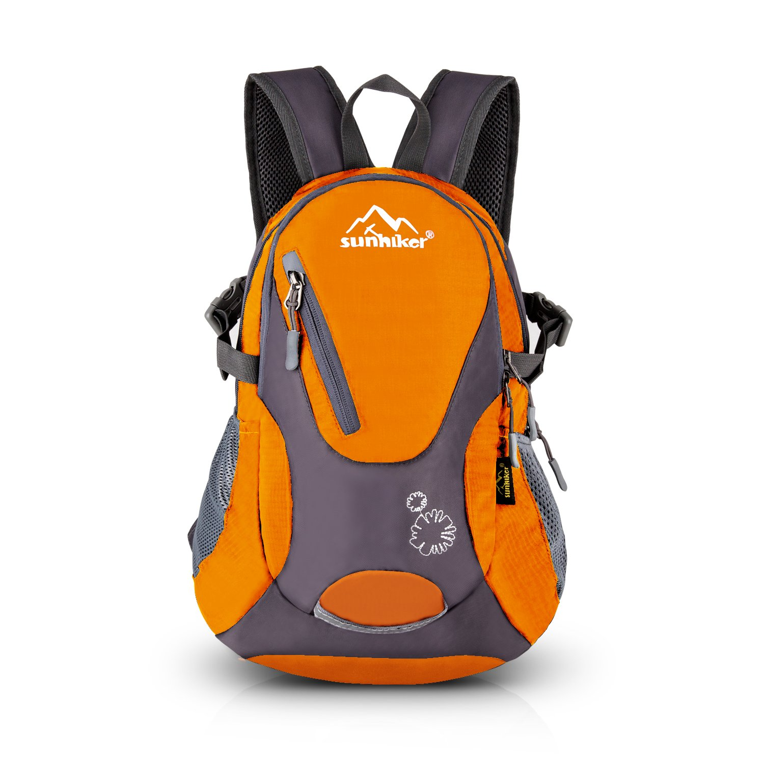 Sunhiker Cycling Hiking Backpack Water Resistant Travel Backpack Lightweight Small Daypack M0714 (Orange) by Sunhiker