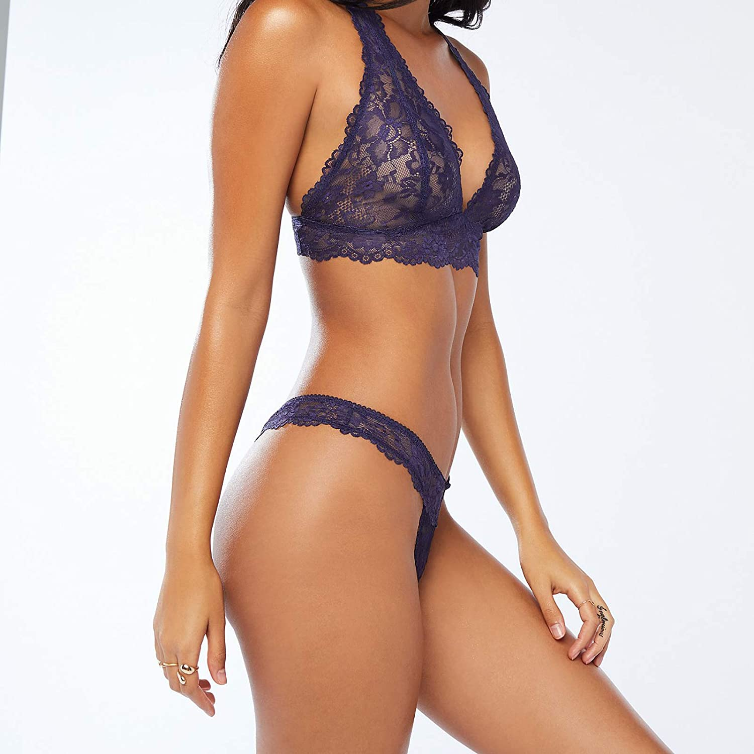 Savage X Fenty Floral Lace Thong Perizoma Donna