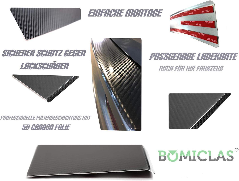 X2 BOMICLAS Ladekantenschutz Sto/ßstangenschutz 5D Carbon auf Aluminium mit Abkantung