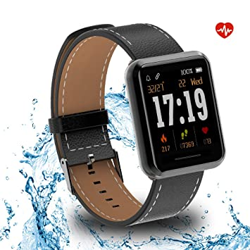 Kospet Smartwatch, Impermeable Reloj Inteligente con Podómetro/Contador de Calorías/Pulsómetro/Monitor de Sueño/Notificación Llamada y Mensaje, ...