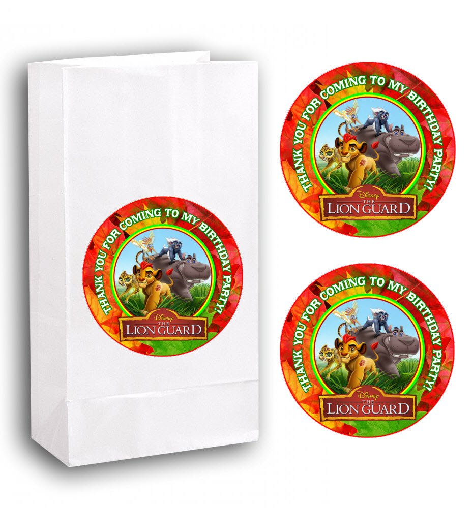 Amazon.com: 12 Lion Guard Birthday Party Favor BAGS with Stickers #1