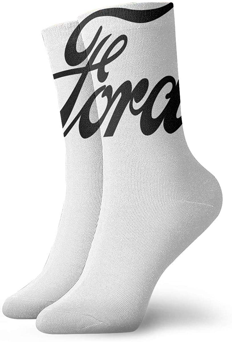 Women High Ankle Cotton Crew Socks Fathers Day Sign Casual Sport Stocking