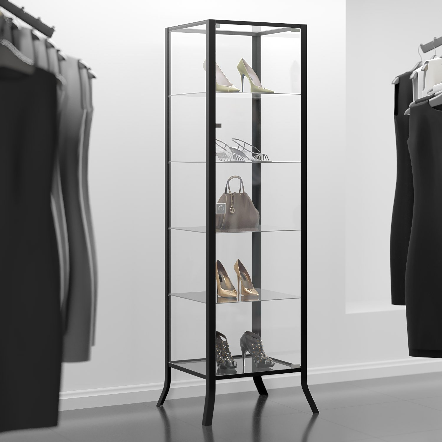 Amazon.com: Curio Cabinet Display with Glass Door and Lock for ...