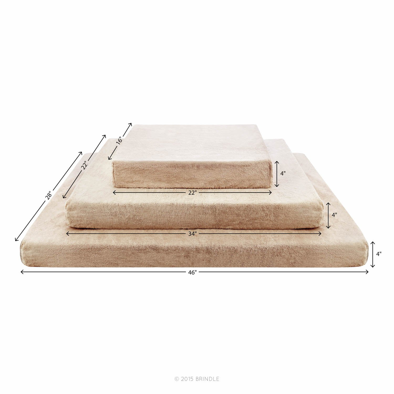 Brindle Soft Velour Pet Bed, Mocha Blue, Large 46 x 28 Brindle - Quidsi BRLLMU22PB
