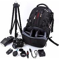 Nylon Shockproof Camera Laptop Bag Lens Case Backpack for Canon Nikon SLR DSLR Camera