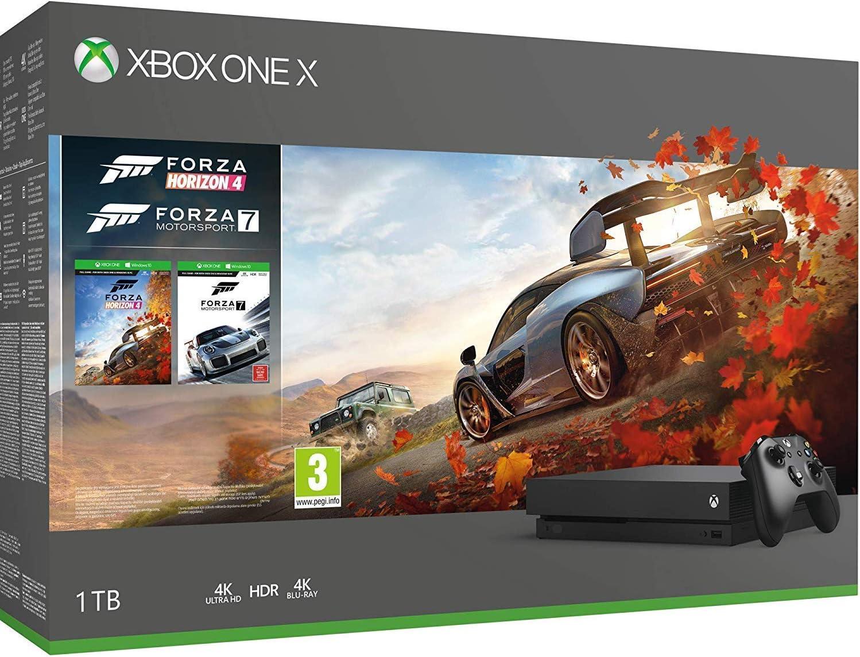 93f614b697b Amazon.com: Microsoft Xbox One X Forza Horizon 4 Bonus Bundle: Forza ...