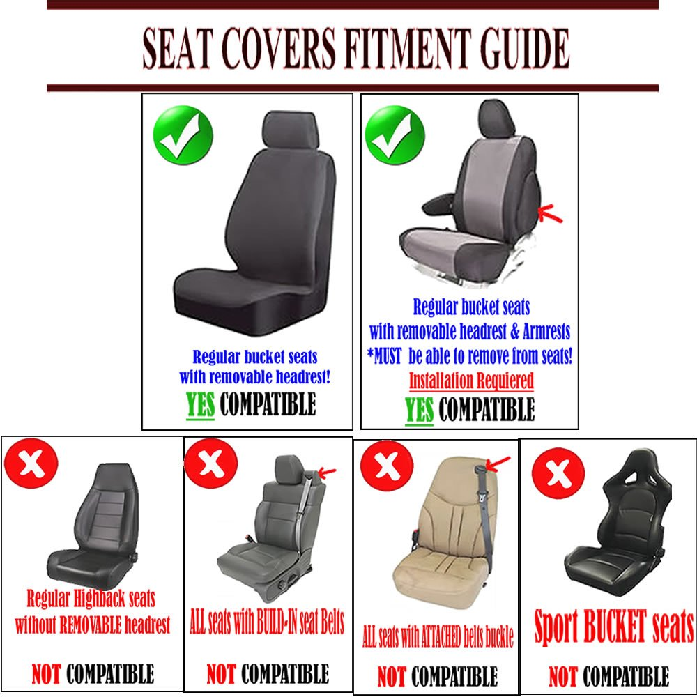 Amazon Universal Full Set OF Car Seat Covers