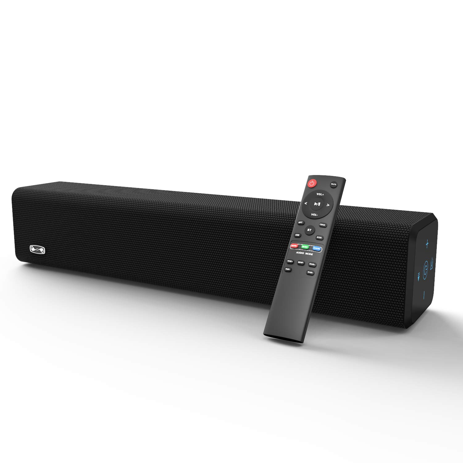 Soundbar, BESTISAN Sound Bar with Bluetooth 5.0 and Wired Connections, Home Theater Audio Sound Bars for TV (20 Inch, 50 Watt, 3 Inch Drivers, Bass Adjustable, Wall Mountable, Deep Bass, AUX-Out Port)