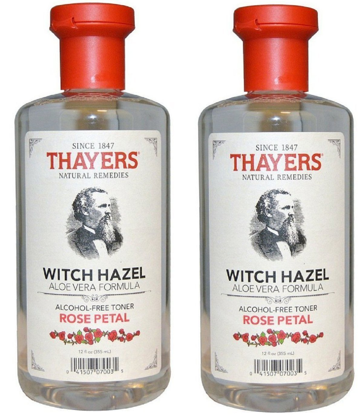 Thayers Alcohol-Free Rose Petal Witch Hazel Toner - 12oz (2 Pack) Thayer' s