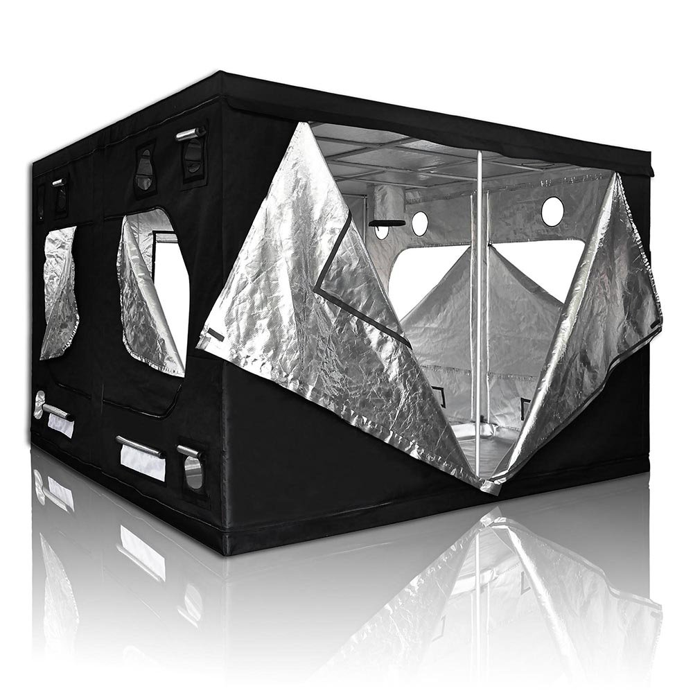 120x120x78in/10x10x6.5ft Xlarge Non-toxic 600D Mylar Reflective Grow Tent Hydroponic Dark Room Box Hut by LAGarden