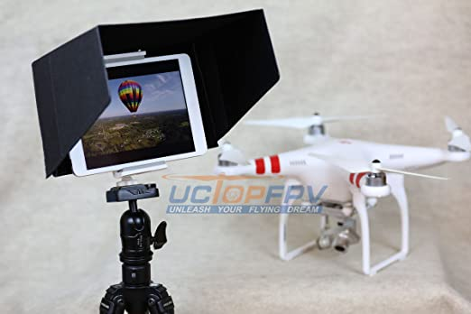 10 Inch Tablet IPad Sun Hood Shade Fits Up To 11 Black With Tripod Mount For All Version 1 2 3 Air Compatible DJI Phantom