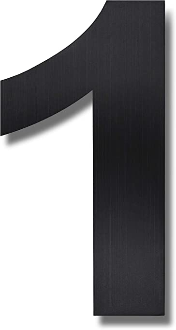 FAST NEUTRAFACE Aluminium House Numbers FREE DELIVERY Large 15cm