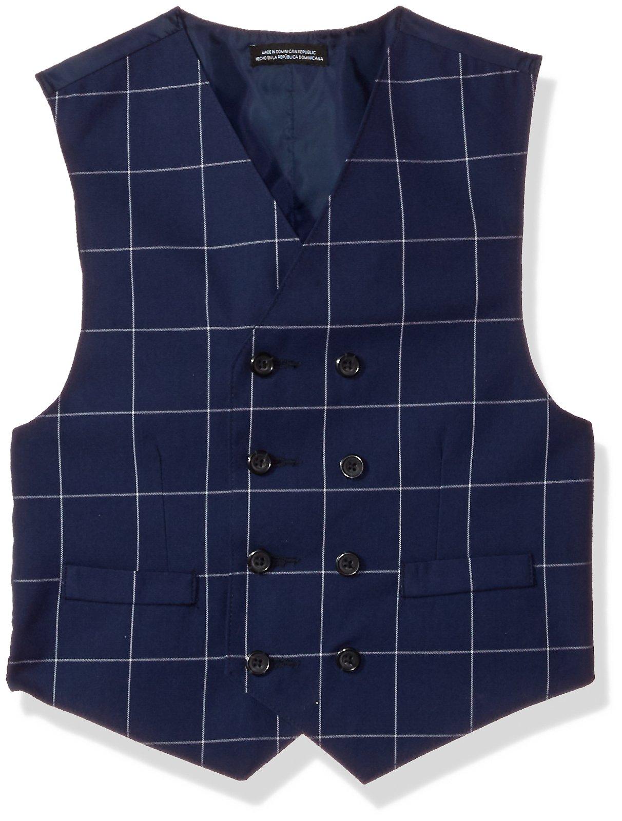 Steve Harvey Big Boys' Three Piece Suit Set, Dark Blue Windowpane, 16 by Steve Harvey (Image #3)
