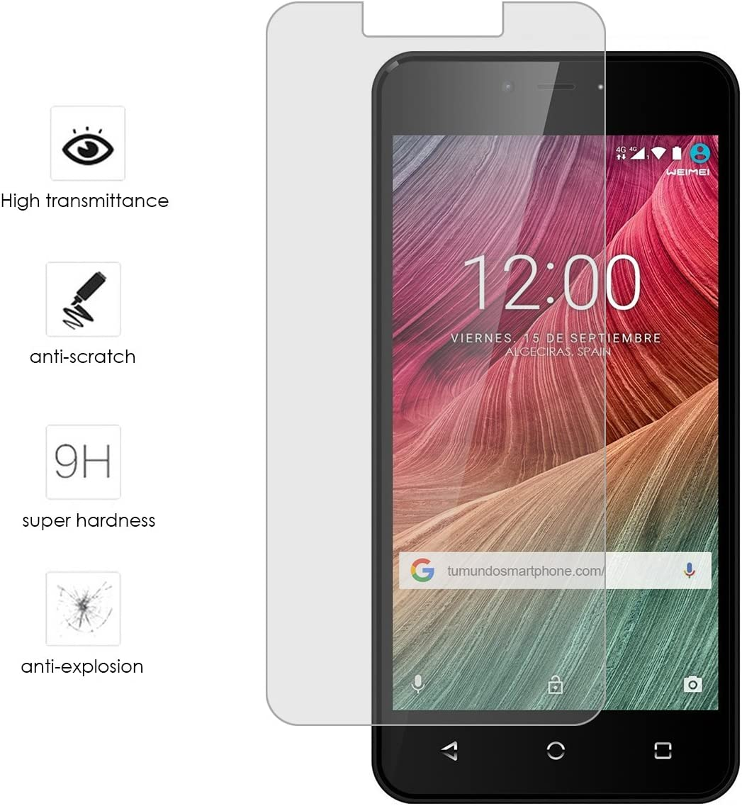 Tumundosmartphone Protector Cristal Templado para WEIMEI Neon 2 ...