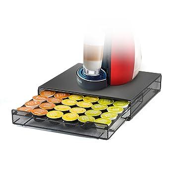 HiveNets Dolce Gusto Café Cápsula Soporte y Cajón de Almacenamiento Metal Soporte Máquina para 36 Pcs: Amazon.es: Hogar