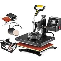 SHZOND Heat Press Machine 12 X 10 inch 360 Degree Swing-Away Heat Press Multifunction Sublimation T Shirt Press Machine Transfer Printer (5IN1)