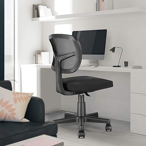 MOLENTS Task Chair Armless Office Chair Mesh Computer Chair