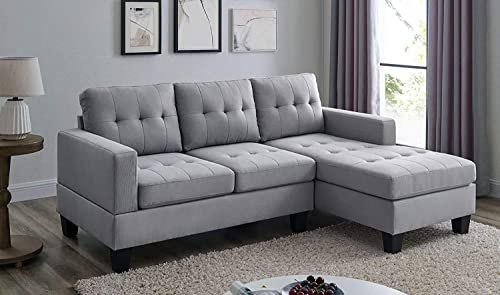 BEEY Sectional Sofa L-Shape Sofa Couch 3-seat Sofas Bed