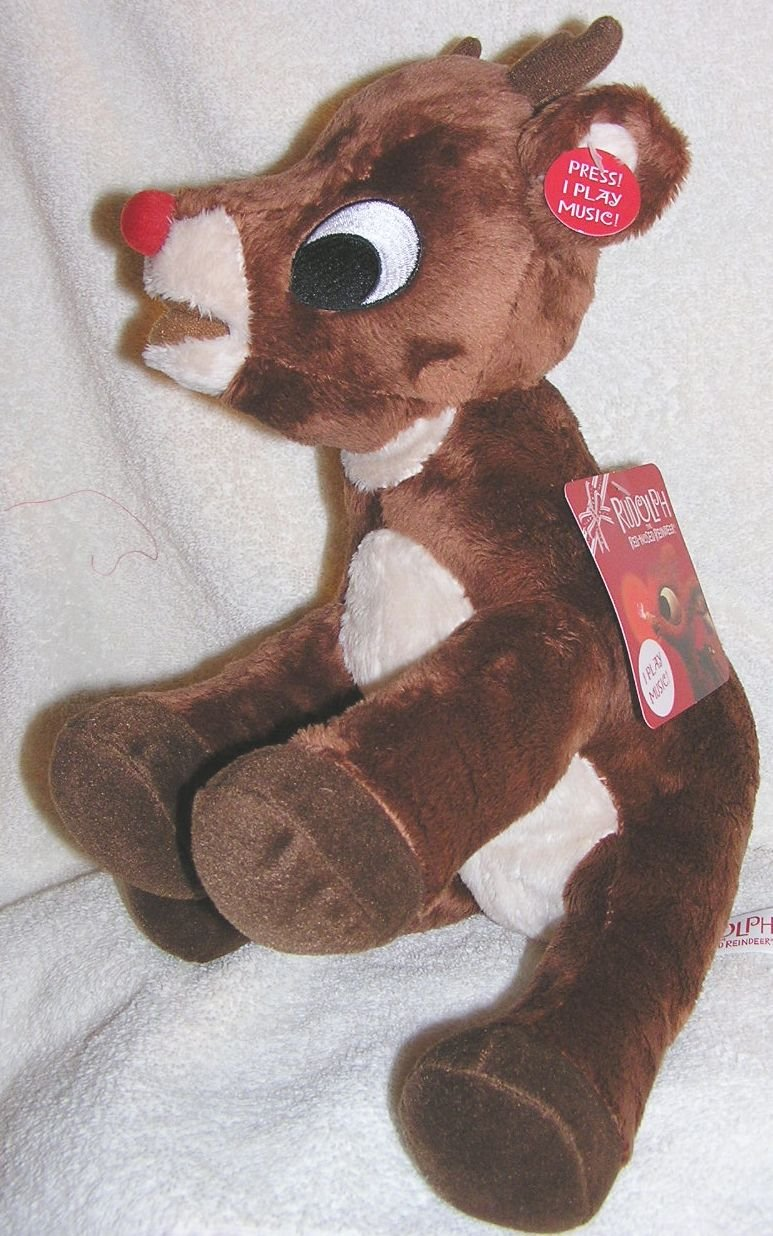 descuento Musical 12 Soft Plush Rudolph the Red Nosed Reindeer Doll Doll Doll - Plays Music by Commonwealth  compras en linea