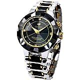 時計 電波時計 腕時計 ダイヤモンド セラミック 1年保証 高級腕時計 人気モデル メンズ 紳士 誕生日プレゼント 贈り物
