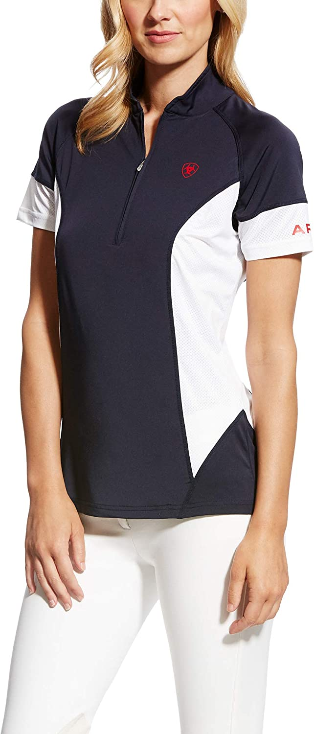 ARIAT Womens Cambria Team Jersey Navy Easy Stretch Breathable