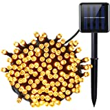 Amir Solar Powered String Lights, (200 LED, 8 Modes) 72ft/ 22m Solar LED String Lights, Ambiance Lighting, Solar Fairy String Lights for Outdoor, Garden, Home, Christmas, Halloween Party (Warm White)