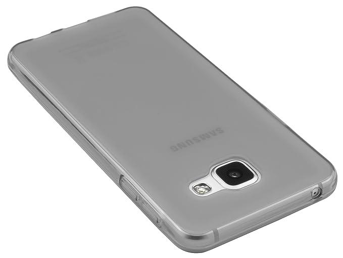 Mumbi 12659 - Carcasa para Samsung Galaxy A3, de Silicona, Color Gris: Amazon.es: Electrónica
