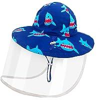 Dream Bridge Sombrero Protector para niños con Escudo Facial para niños y niñas, Gorro de Pescador, Anti UV, Sombrero…