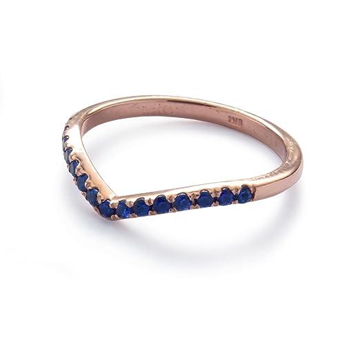 Amazon Com Blue Corundum Ring Sapphire Gold Band Heart Shape Gold
