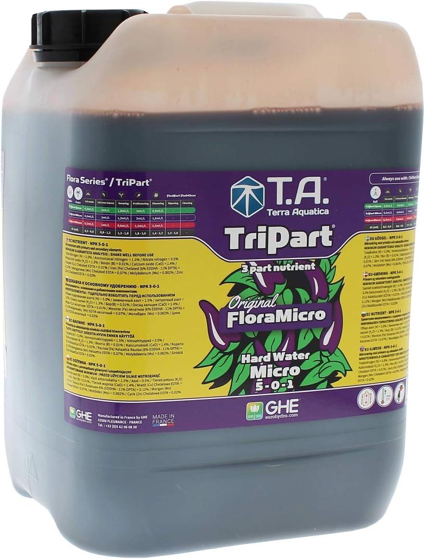 Abono GHE Flora Micro para Agua dura / Hard Water FloraMicro (10L)